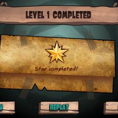 1 уровень был сделан с полной звездой