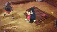 Pilot Mabel and Norman on bench 1