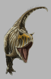 Charging carnotaurus sastrei work in progress by fabrizioderossi-d5z3ymd