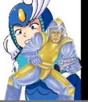 MeguhMay in Mega Mans face