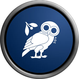 Athena funny owl symbol