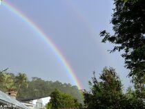 Faded second Rainbow