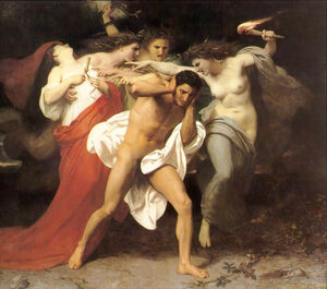 William-Adolphe Bouguereau (1825-1905) - The Remorse of Orestes (1862)