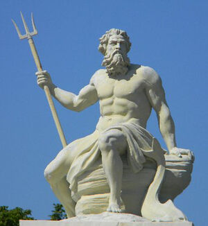 Poseidon Neptune Greek God Statue 02