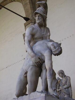 Menelaus supporting the body of Patroclus-Loggia dei Lanzi