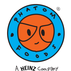 1999-2007. The logo is now more round, the byline was changed and the letters in the logo slightly changed their place. This version was used, when Phatom Foods was owned by <b>H. J. Heinz Company</b> and GreenyWorld Studios.