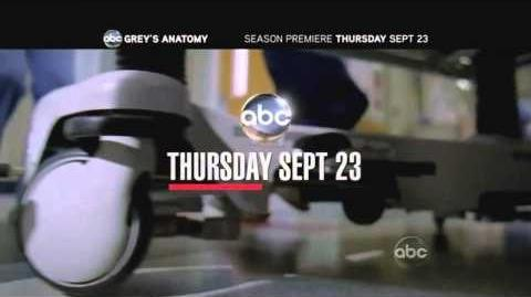 Grey's Anatomy 7x01 With You I'm Born Again promo on ABC september 23th