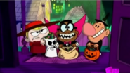 Billy, Irwin and Mandy in Halloween costumes