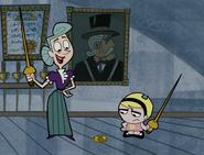 Doolin y Mandy practican esgrima