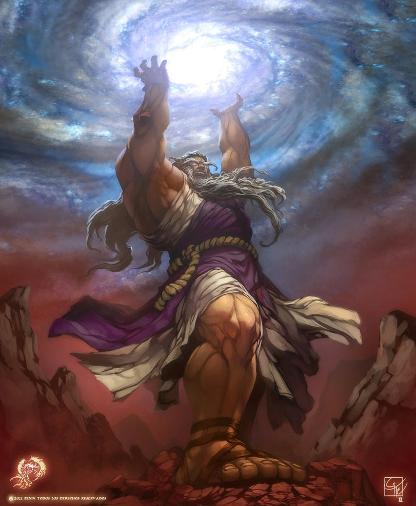 Uranus Greek God Kronos: King of Titan ...