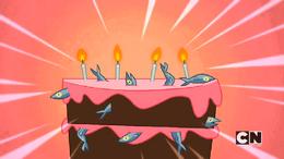 Sardines and cake
