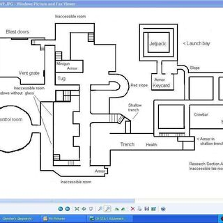 A fan-made blueprint of the interior.