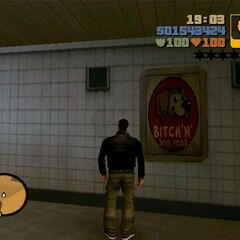 BITCH'N' DOG FOOD poster in GTA III.