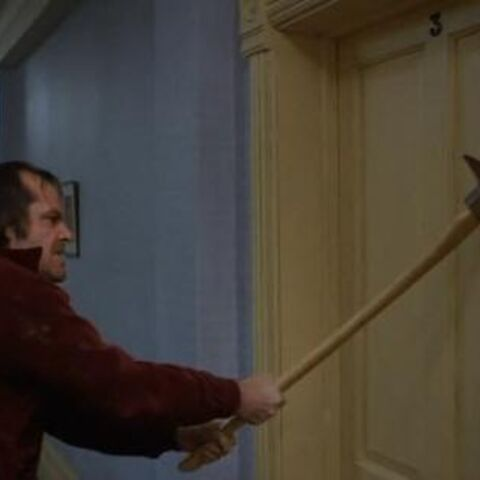 The axe scene in The Shining.