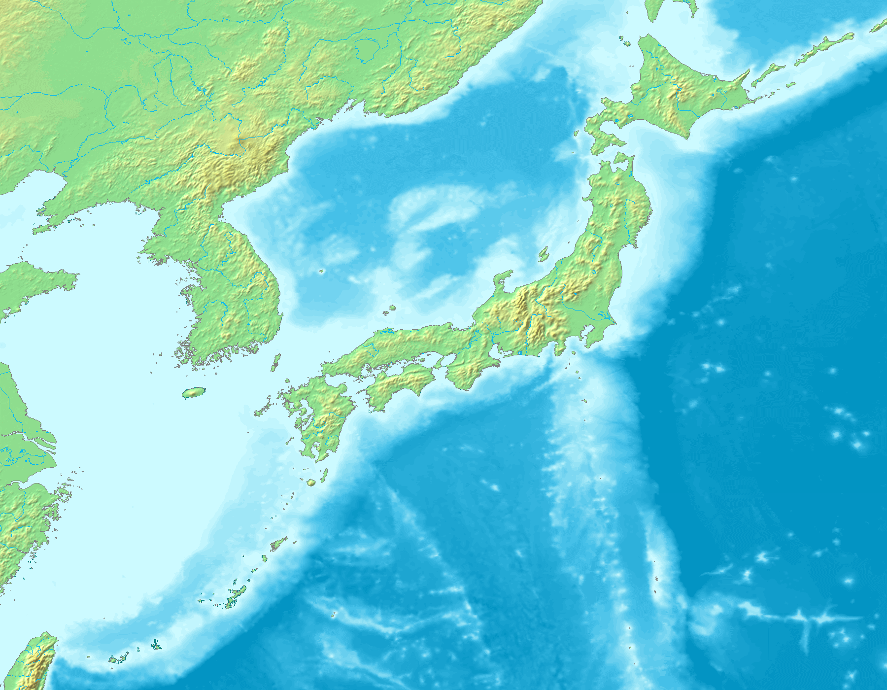 Image Topographic Map Of Japanpng GTA Wiki FANDOM Powered - Topographic map of eastern us