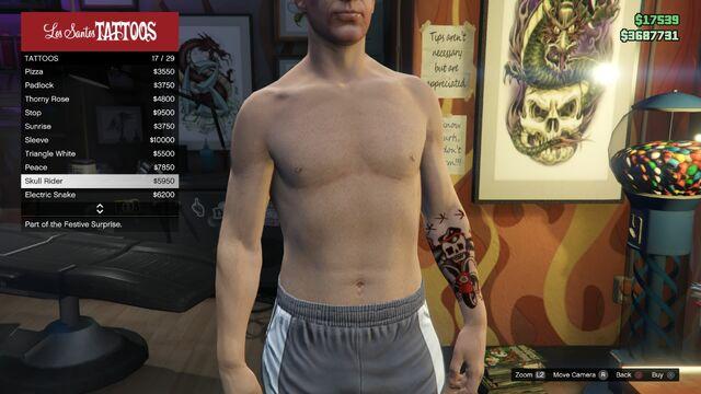 File:Tattoo GTAV Online Male Left Arm Skull Rider.jpg