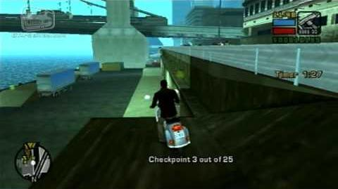 GTA Liberty City Stories - Walkthrough - Checkpoint Challenge - GO GO Faggio