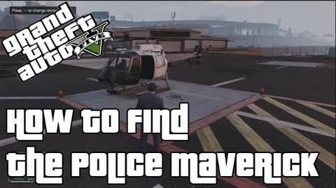 GTA V How to find the Police Maverick (Police Helicopter) in Offline Online