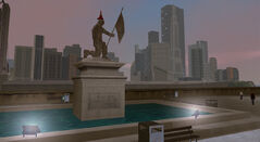 Francis International Airport (GTA3) (statue)