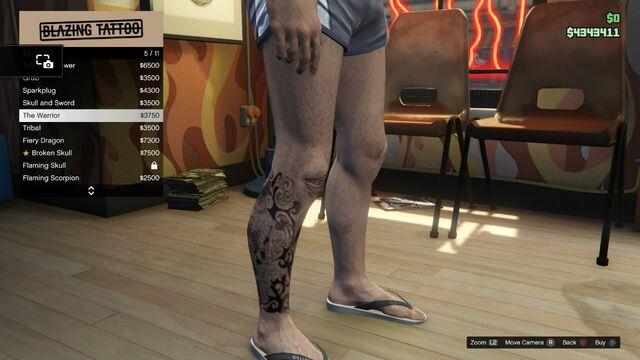 File:Tattoo GTAV Online Male Right Leg The Warrior.jpg