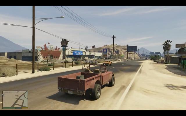 File:GTAV-gameplay-Trevor-drivingdowntheroad-desert-rearsideview.png
