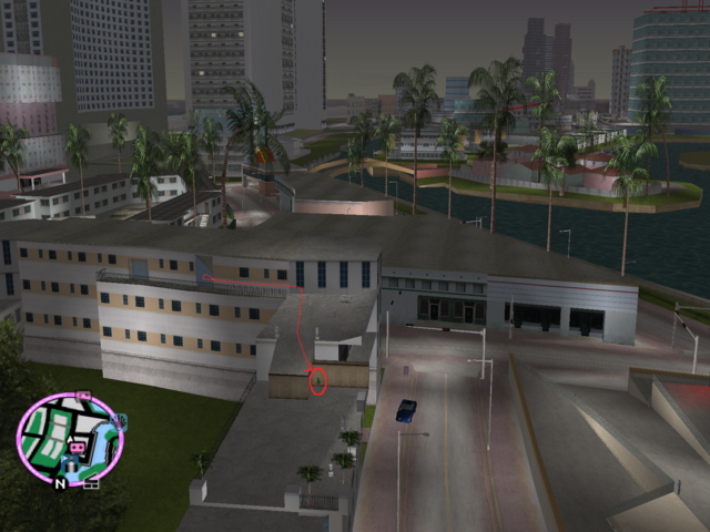File:GTAVC HiddenPack 30 easteregg courtyard apt. long roof.png