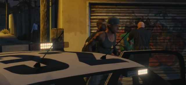 File:Grove member being arrested-GTAV.png
