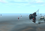 Wreck Tug4 GTAIV Wreckage from shore 2