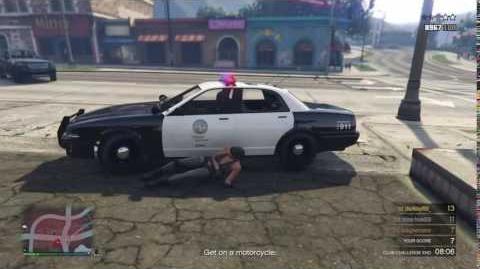 Stanier Police Cruiser spawn in MC Criminal Damage Challenge
