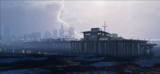 File:Pier in lightning storm.jpg