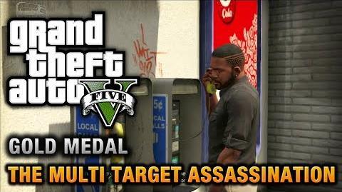 GTA 5 - Mission 34 - The Multi Target Assassination 100% Gold Medal Walkthrough