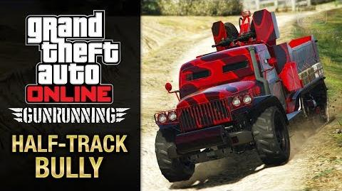 GTA Online Gunrunning - Mobile Operation 2 - Half-track (Half-track Bully)