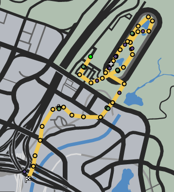 Saddle Up GTAO Race Map