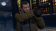 Official PC Screenshot GTAV Facebook Michael Pistol
