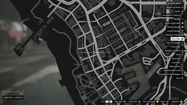 File:Vehicle Export Showroom GTAO Pinkslips Vespucci Map.png