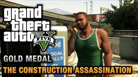 GTA 5 - Mission 48 - The Construction Assassination 100% Gold Medal Walkthrough