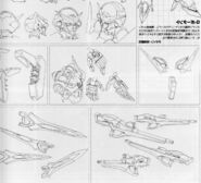 Gundam Portent parts and accessories