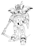 XXXG-01D Deathscythe Front View Lineart