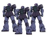 Gundam the Origin Black tri star MS- 05 Zaku I