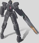 CG Seraphim Gundam GN Cannon Rear