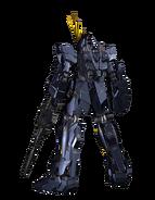 RX-0 Unicorn Gundam 02 Banshee (Unicorn Mode) CG Art (Rear)