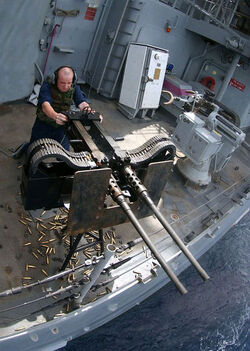 Twin .50 caliber machine gun