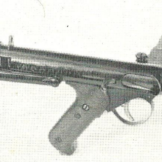 Patchett Machine Carbine Mk.I, No.1. This is the first prototype of the Patchett gun.