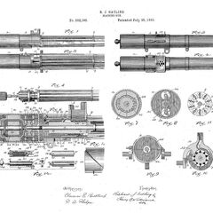 The worlds first electric driven Gatling gun of 1893, capable of 3000RPM.