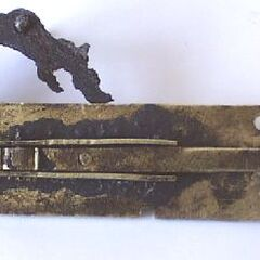 The preserved lock plate of a <a href=