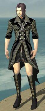 Elementalist Elite Kurzick Armor M gray chest feet front