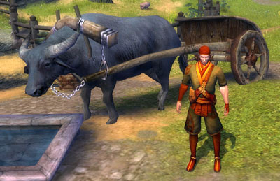 Farmer Donlai and cattle