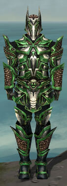 Warrior Elite Kurzick Armor M dyed front