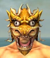 Dragon Mask gray front