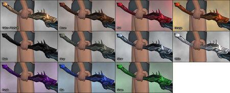 Dragon's Breath Wand dye chart